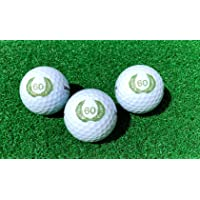 LL-Golf  3er Set 60er Geburtstags Golfbälle mit Happy Birthday Motiv in Geschenkbox/Golf Geburtstagsgeschenk/Golfgeschenk