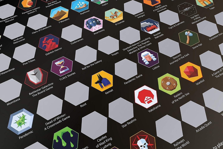 Top 100 Board Games Póster de rascador [junio 2019] – Best Games of All Time Bucket Lista (16.7 pulgadas x 23.5 pulgadas) (enchapado): Amazon.es: Hogar