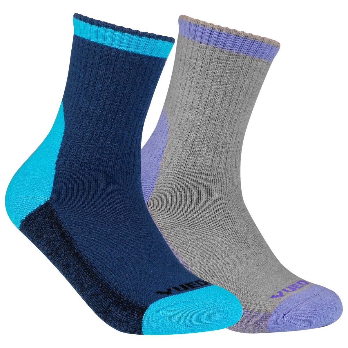 Women's Merino Wool Hiking Walking Socks - YUEDGE 2 Pairs Warm Wool Crew Socks Outdoor (2018 Newest Style)