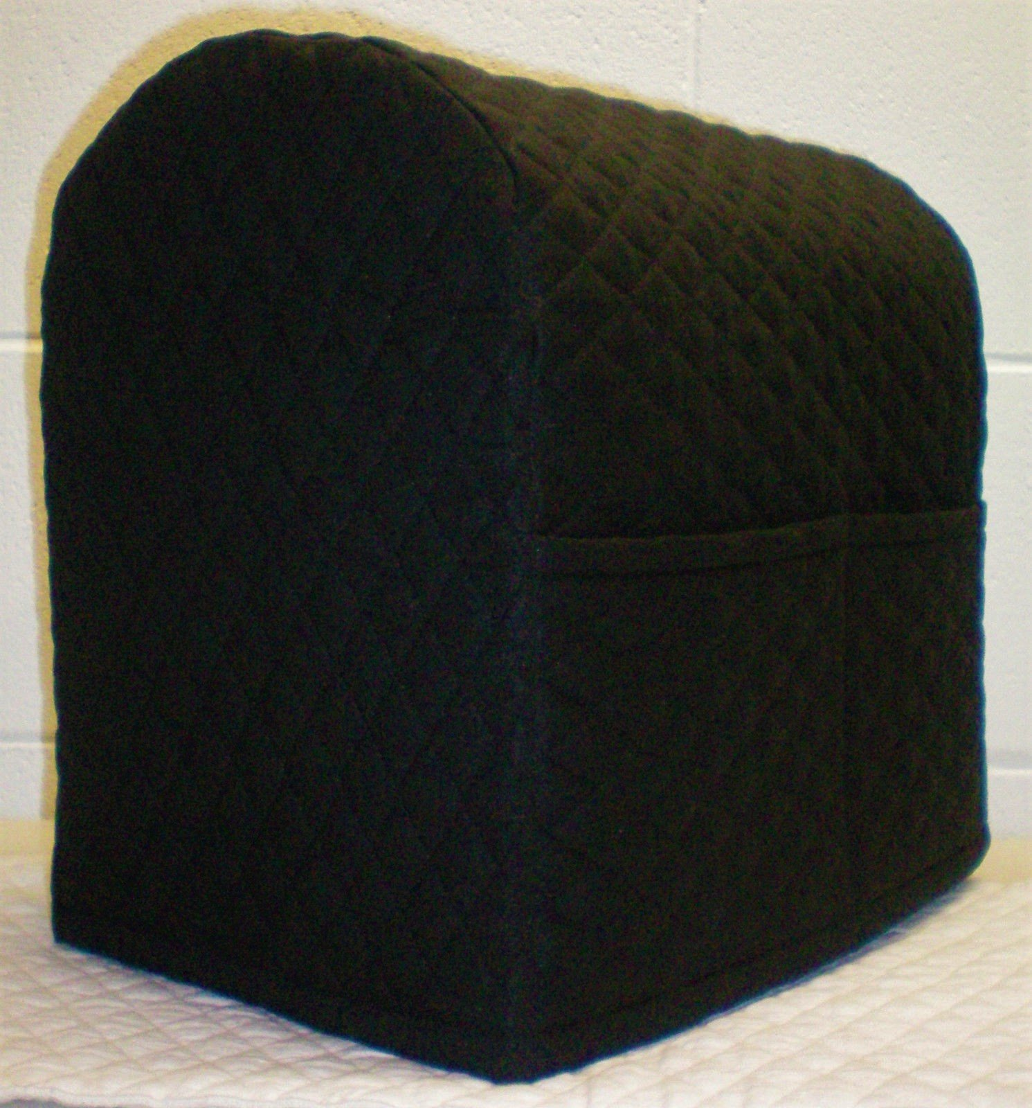 Penny's Needful Things Quilted Cover Compatible with Kitchenaid Stand Mixer (Black, 4.5/5qt Tilt Head)