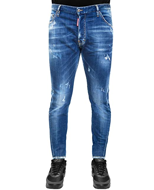 922d41ec Dsquared2 - Classic Kenny Twist Jean - Distressed Denim Jeans (IT52 (36))