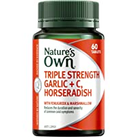 Nature's Own Triple Strength Garlic + C, Horseradish - Supports immune system function - Traditionally used to relieve…