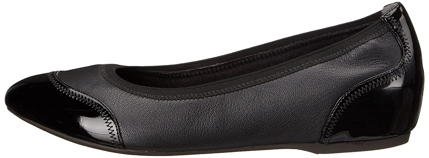 Rockport Women's Ballet Total Motion Crescent Ballet Ballet Women's Flat B00MBDHBF6 8 B(M) US|Black Pearlized/Patent be1041