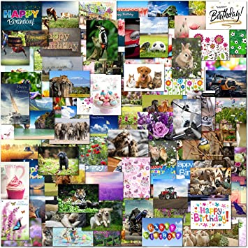 100 Mixed Wholesale Bulk Selection Pack Birthday And Blank Greeting Cards