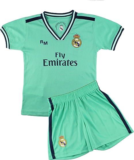 Kit Camiseta y Pantalón Infantil Tercera Equipación - Real Madrid - Réplica Autorizada: Amazon.es: Deportes y aire libre