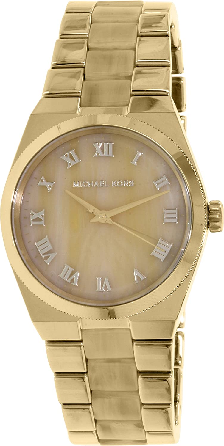 bd5070d04640 Amazon.com  Michael Kors Watches Channing Three Hand Stainless Steel Watch  (Gold)  Michael Kors  Watches