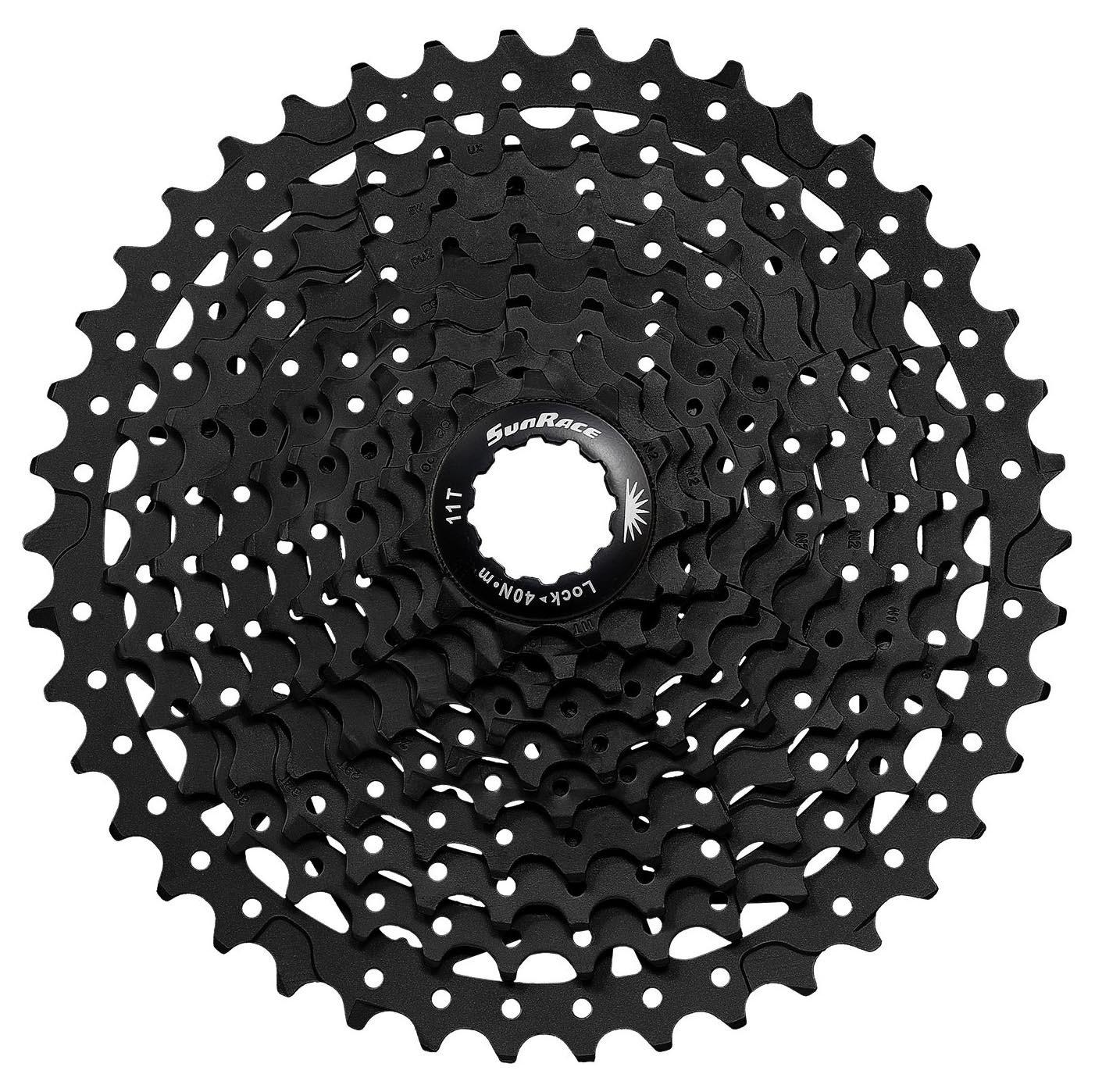 Sunrace ms3 10スピードマウンテン自転車自転車カセットブラック B07B4MFCJTBlack 11-46 Teeth