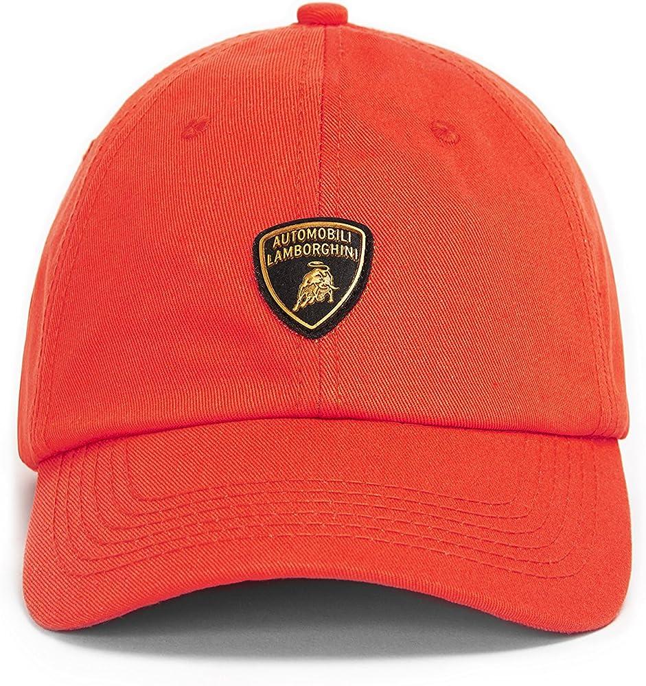 Automobili Lamborghini Shield Patch Cap Orange One Size ...