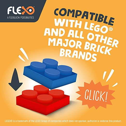 Flexo 3D Building Brick Set - Free Play INVENTOR SET(Brights) Toys For Boys  And Girls Creative