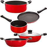 Nirlon 5 Piece 3 Layer Non-Stick Coated Chemical Free Healthy Kitchen Cooking Utensil Combo Set