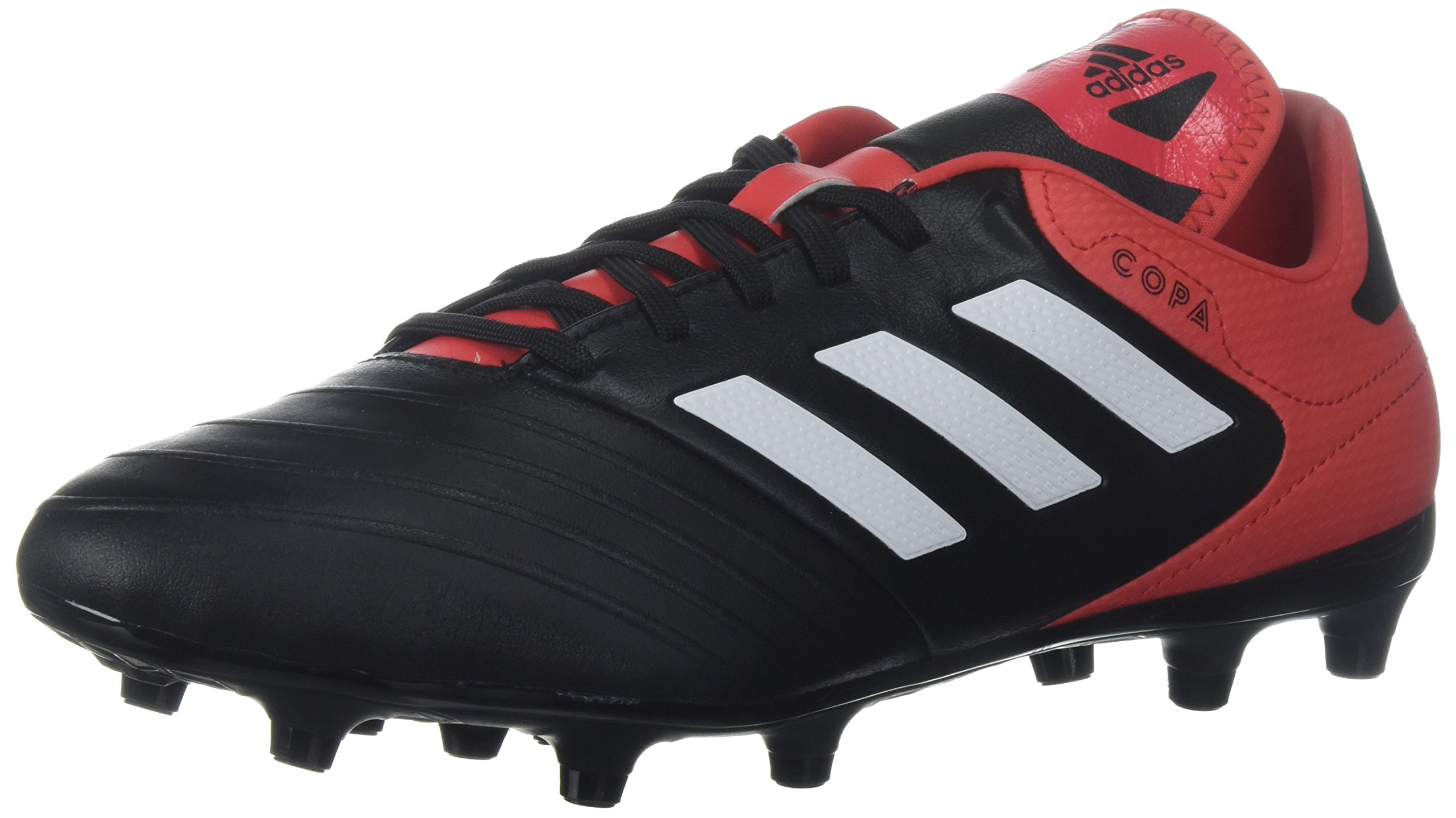 adidas Men's Copa 18.3 FG Soccer Shoe, Core Black/White/Real Coral, 13.5 M US by adidas