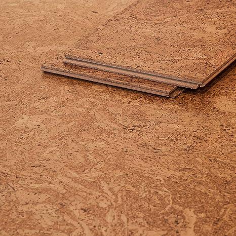 corcasa korkboden grob strukturiert lackiert klicksystem warmer kork bodenbelag klick atacama amazon de baumarkt