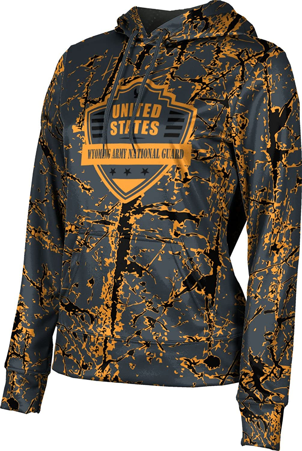 Women's Wyoming Army National Guard Military Distressed Pullover Hoodie