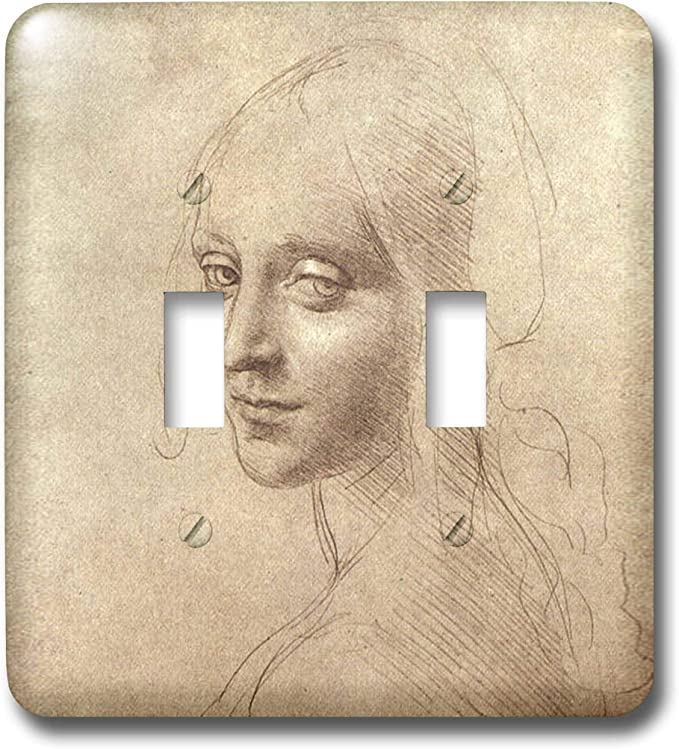 3drose Lsp 5310 2 Drawing Of The Face Of The Angel Double Toggle Switch Switch Plates Amazon Com