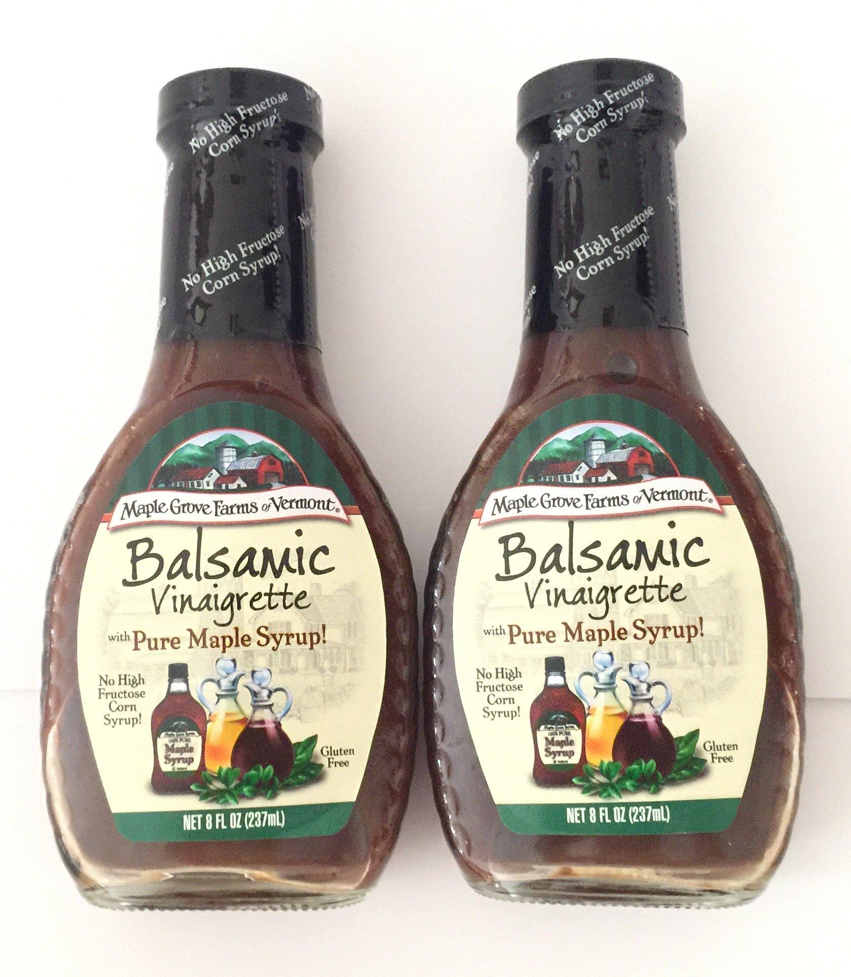 Maple Grove Farms Vinegar Balsamic Maple 8.0 OZ (Pack of 2)