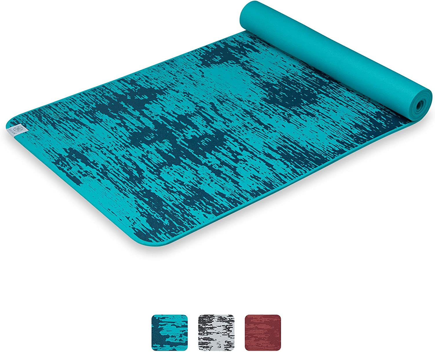 Amazon Com Gaiam Yoga Mat 6mm Insta Grip Extra Thick Dense Textured Non Slip Exercise Mat For All Types Of Yoga Floor Workouts 68 L X 24 W X 6mm