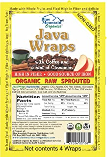product image for Blue Mountain Organics, Raw, Vegan, Paleo, Java Wraps (4 wraps), 5.5oz (156 g)
