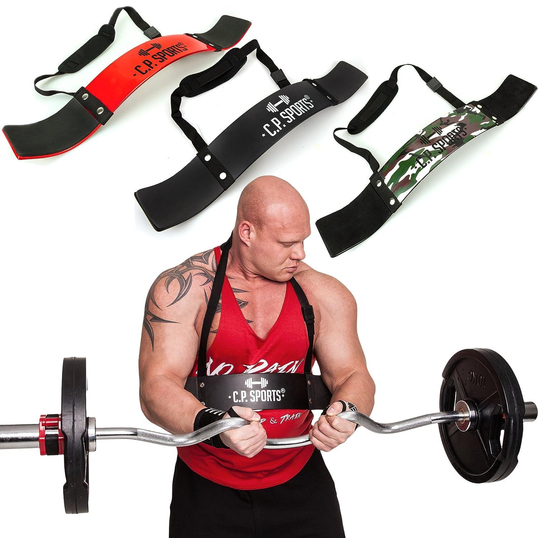 C.P. Sports Aislador de bíceps, ideal para culturismo, deportes de fuerza y levantamiento de peso, G28-rot, rojo: Amazon.es: Deportes y aire libre