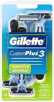 4-Pack Gillette Custom Plus 3 Disposable Razors