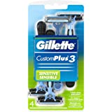 Gillette Customplus 3 Soothing Disposable Razor 4 Count