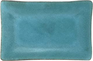 product image for Dock 6 Pottery 10-inch Rectangular Footed Tray, Turquoise