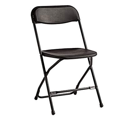 Samsonite 2200 Series Injection Mold Folding Chair (Case/10) Black