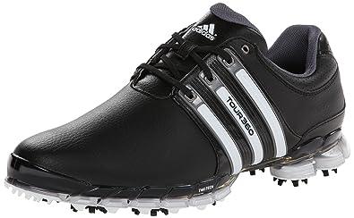 adidas Mens Tour 360 ATV M1 Golf ShoeBlack White Dark Silver Metallic
