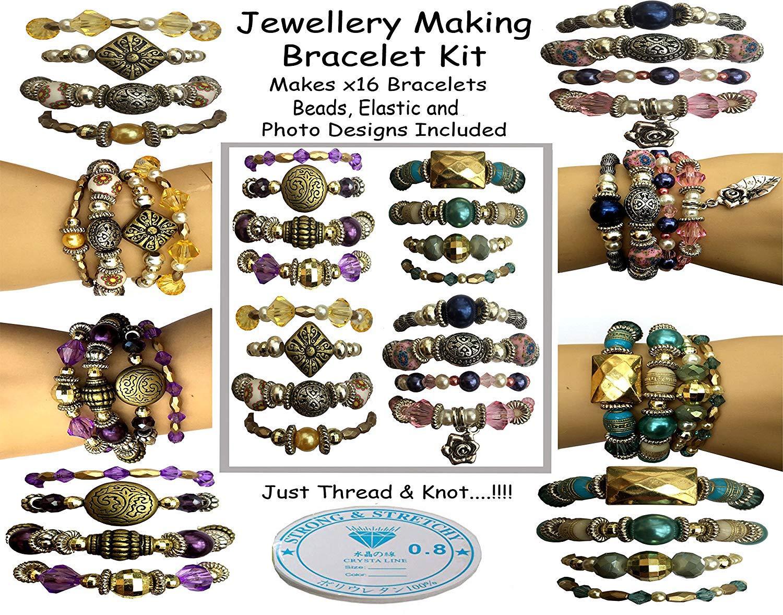 x 16 Bracelet Jewelry Making Kit Sabrikas Giftware