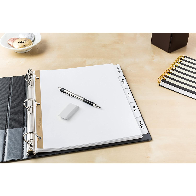 23075 48 Sets Avery Big Tab Write /& Erase Dividers 5 White Tabs