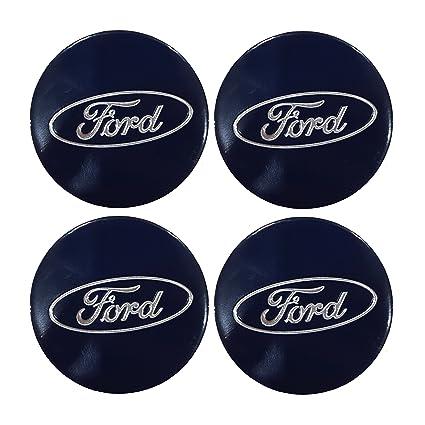 Emblema de aleación para los tapacubos de las ruedas con el logotipo de Ford, 4 unidades: Amazon.es: Coche y moto