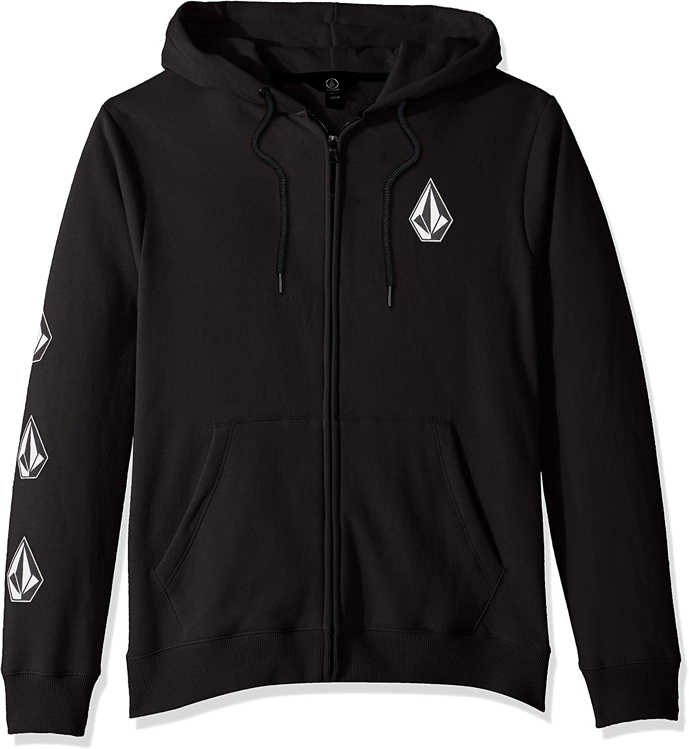 Volcom Men/'s Deadly Stone Zip-Up Hoodie Sand Brown Clothing Apparel Hooded