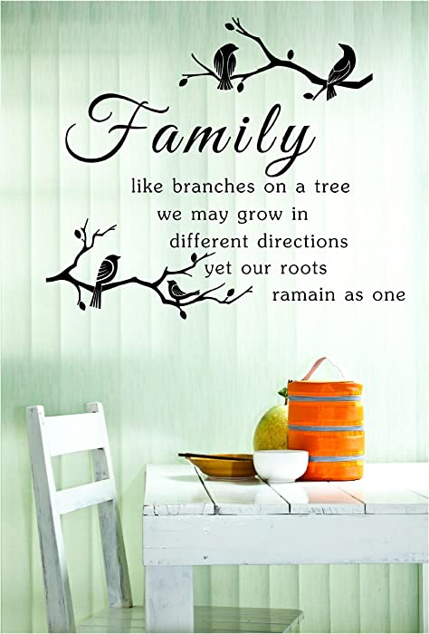 #3 Family like branches on a tree we may grow in different directions yet our roots remain as one Vinyl Decal Matte Black Decor Decal Skin Sticker Laptop