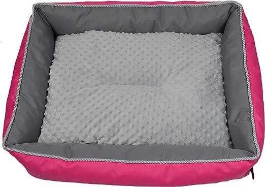 MEL Dog Cama para Perros, 4 tamaños, Color Rosa y Gris, cojín para Perros, glamuroso: Amazon.es: Productos para mascotas