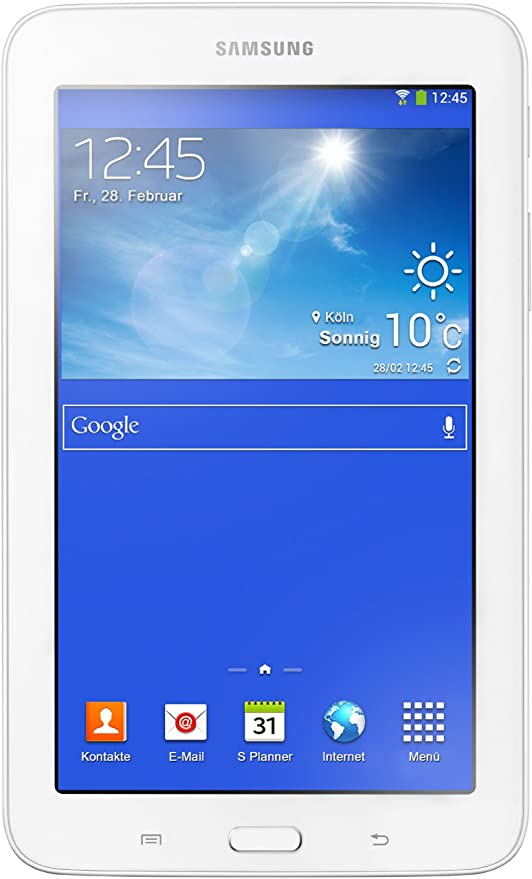 Samsung Galaxy 3 7.0 Lite T110N 17,8 cm (7 Zoll) Tablet (Dual Core Prozessor, 1,2GHz, 1GB RAM, 8GB HDD, Android 4.2, Wi-Fi) c