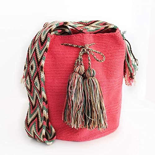 Amazon.com: Wayuu Shoulder bag Cotton Handmade Fair Trade (Mochila Wayuu from Colombia): Handmade