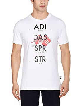 Adidas T-Shirt Superstar Shoe Graphic - Camiseta, Color Blanco, Talla m