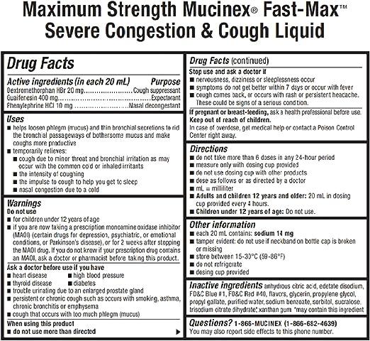 Ingredients in mucinex d
