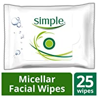 25-Count Simple Facial Wipes Micellar Deals