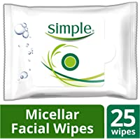 25-Count Simple Micellar Water Facial Wipes