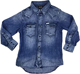 DIESEL CITROS 00J3BA KXA0I Hemd Kinder Denim Light Blue 4Y DIESEL KID