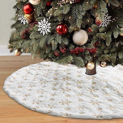 HusDow Falda de árbol de Navidad de 48 Pulgadas, Falda de árbol de ...