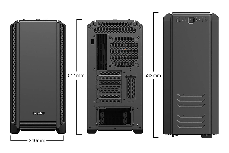 ABS , SECC, ATX,EATX,Micro-ATX,Mini-ITX, Negro, 3 Pines be quiet Midi-Tower, PC, Acrilonitrilo butadieno estireno Caja de Ordenador Silent Base 601 Midi-Tower Negro