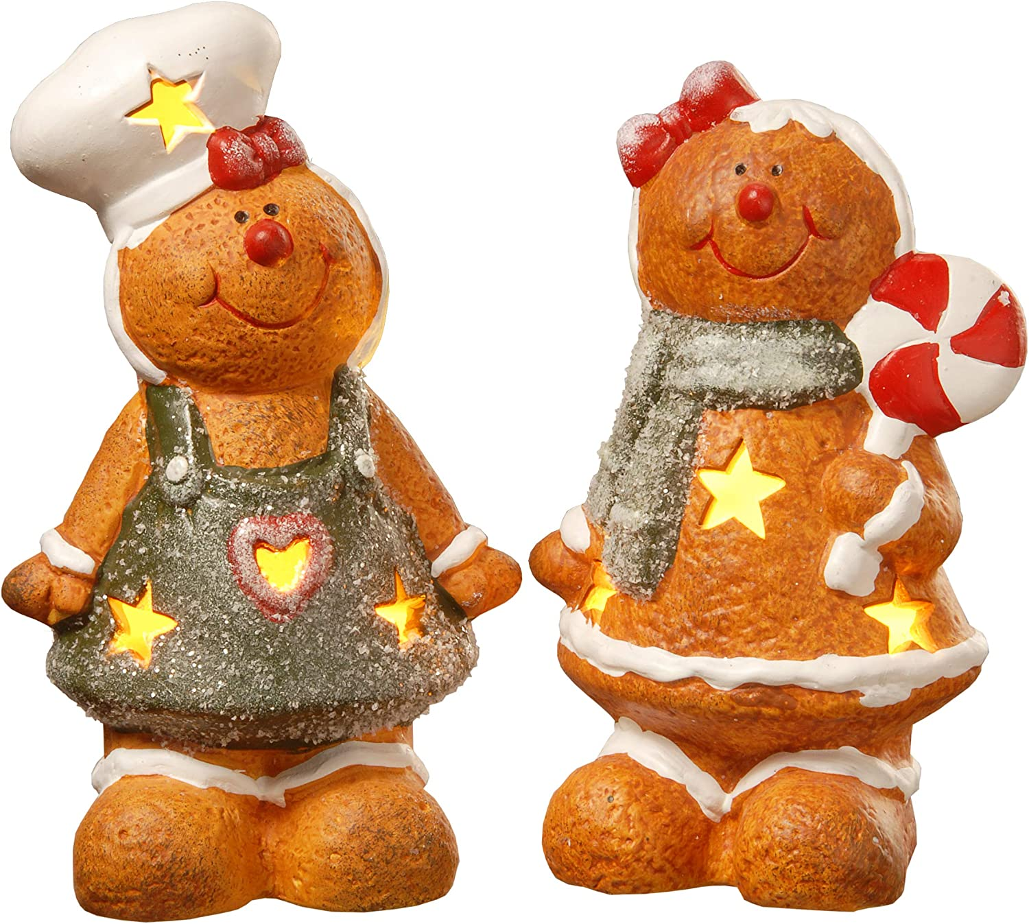 "National Tree 7"" Gingerbread Couple, Brown"