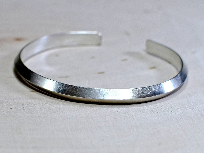 Thicker 3 gauge triangular sterling silver cuff bracelet
