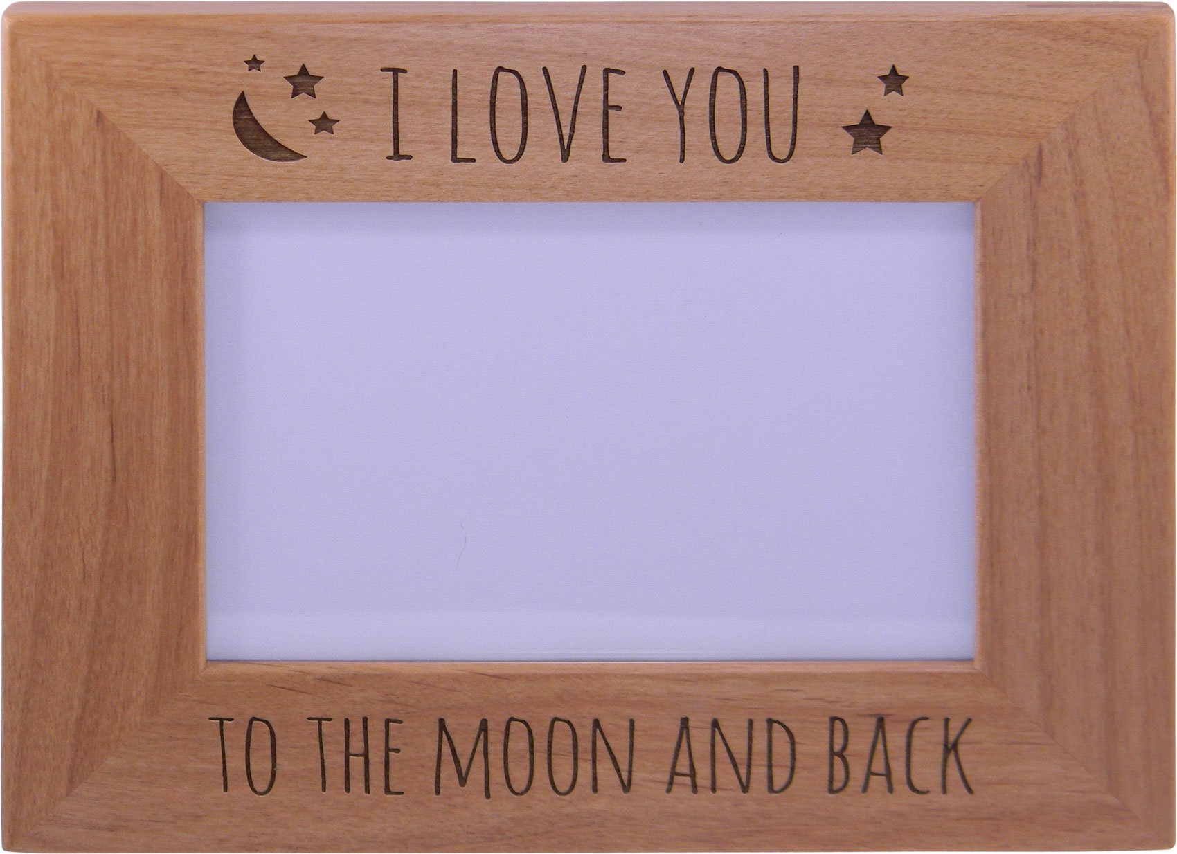 I Love You To The Moon And Back - Wood Picture Frame Holds 4x6 Inch ...