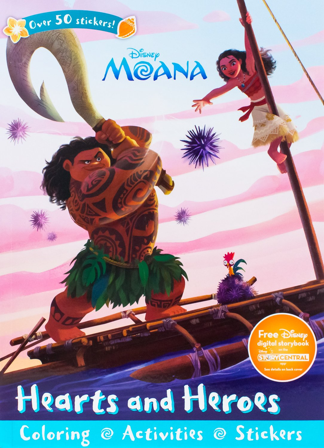 Disney Moana Hearts And Heroes Sticker Scenes Coloring Book Parragon Books Ltd 9781474852678 Amazon