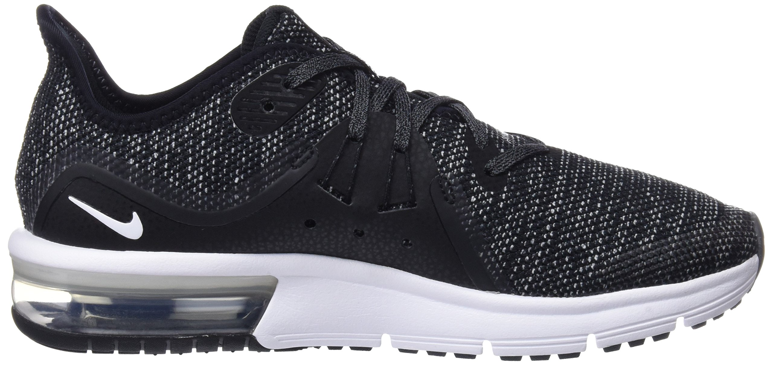 Nike Boy's Air Max Sequent 3 Running Shoe Black/White/Dark Grey Size 3.5 M US by Nike (Image #6)