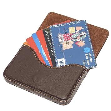 Riatech stylish pocket sized stitched leather visiting card holder riatech stylish pocket sized stitched leather visiting card holder coffee brown reheart Choice Image