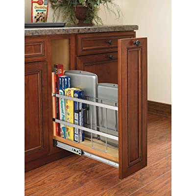 Buy Rev A Shelf 447 Bcbbsc 5c 447 Series 5 Inch Wide Pull Out Foil Wrap Sheet And Tray Divider Cabinet Organizer For Kitchen Base Cabinets Online In Vietnam B012a7caz8