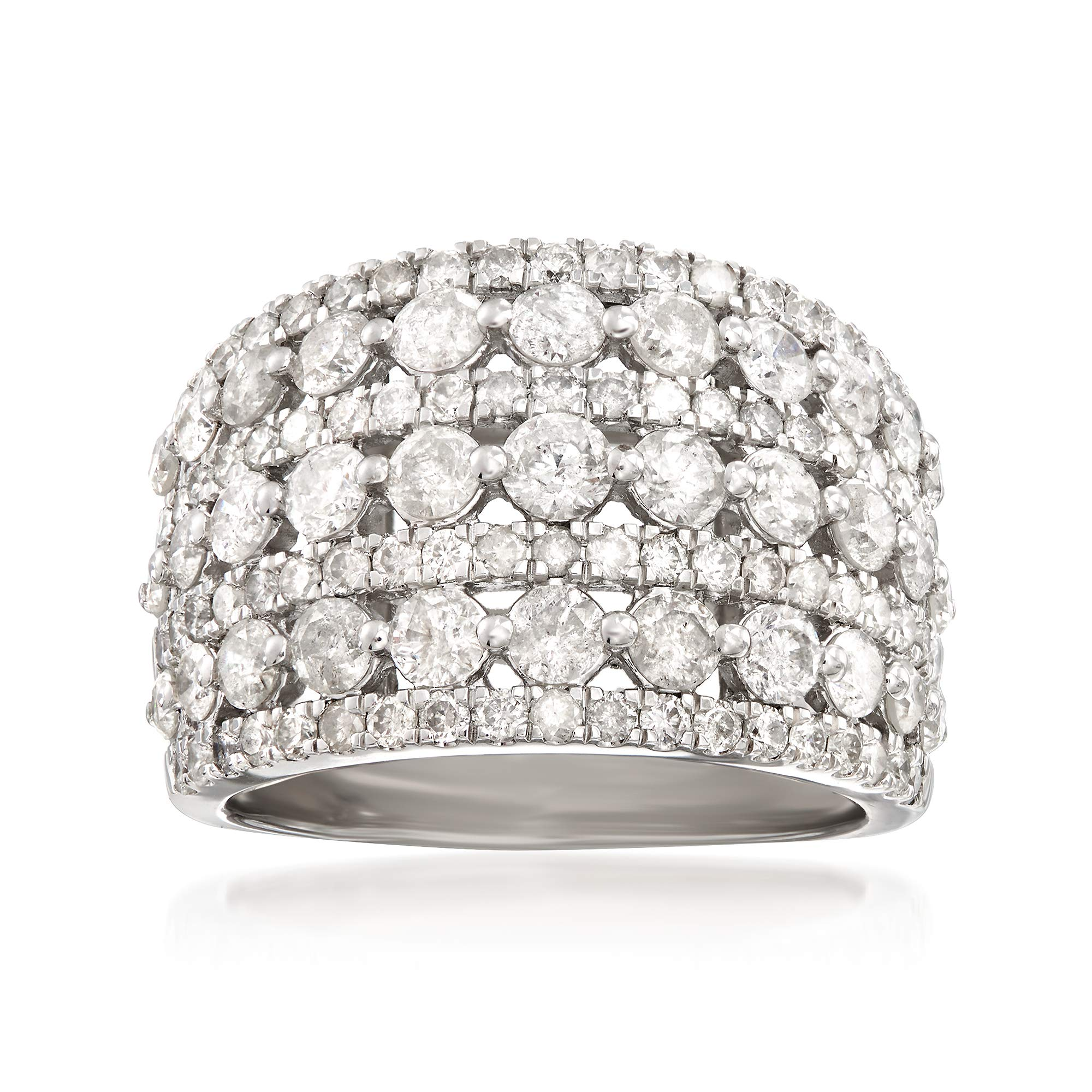 Ross-Simons 3.00 ct. t.w. Multi-Row Diamond Ring in Sterling Silver by Ross-Simons